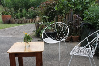 Sunspace outdoor wire chairs