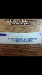 Fortune cookie note