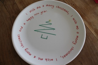 Christmas picture plate