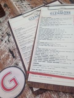Glenmore menu