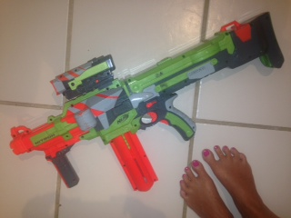 The AK47 of Nerf (feet included in pic for scale)