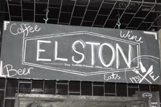 Blackboard sign Cafe Elston