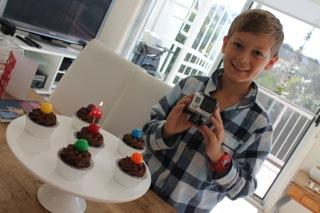 Liam's 10th birthday cupcakes