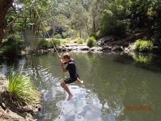 Rope Swing Kondalilla falls