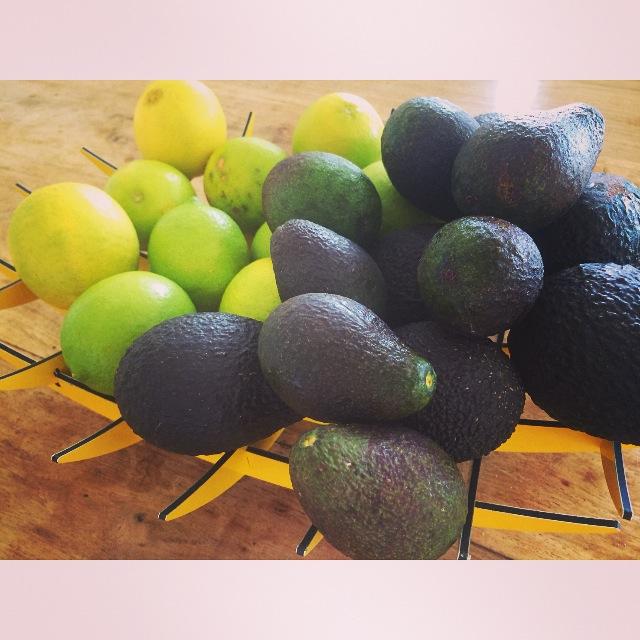 Avocado, limes