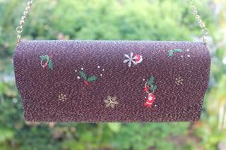 Christmas kimono handbag
