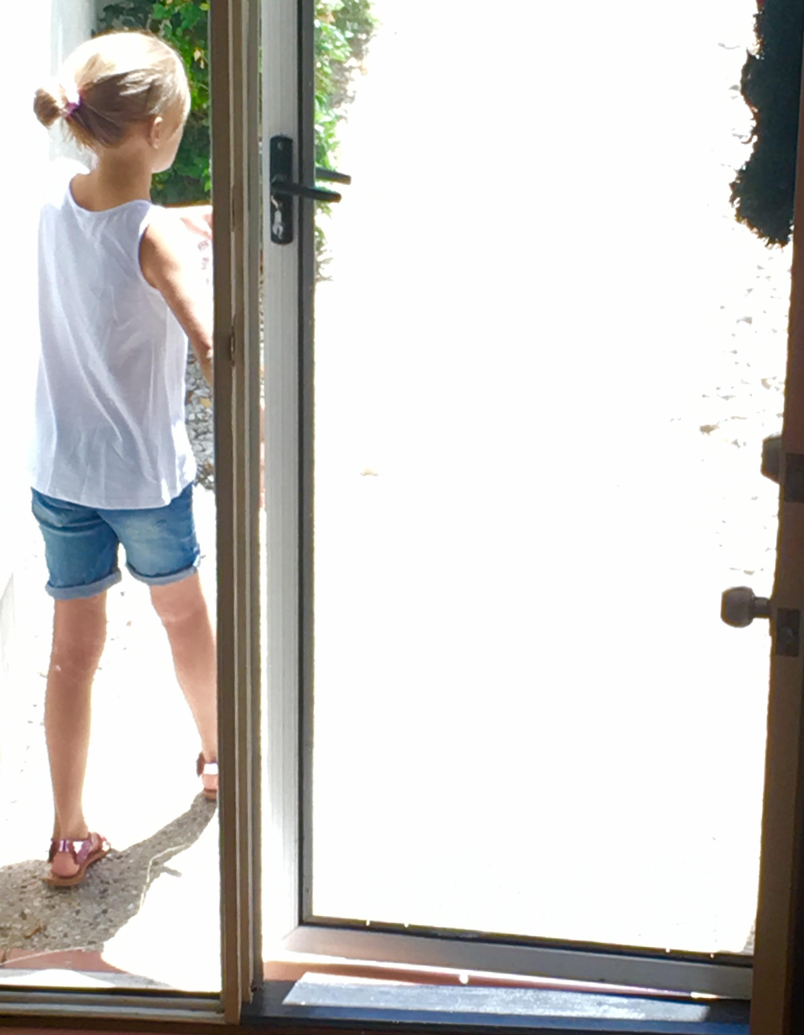 Coco, front door